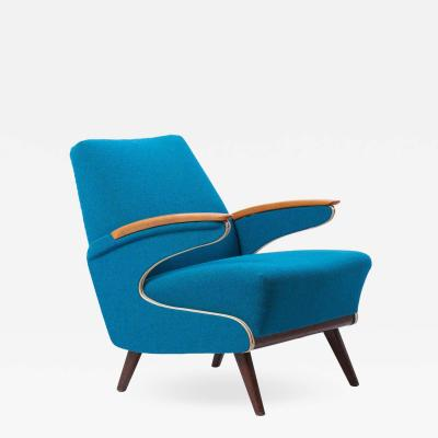 Upholstered Aerodynamic Lounge Chair 1950s