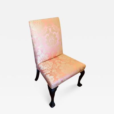 Upholstered High Back Side Chair with Cabriole Legs