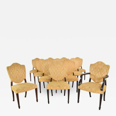 Upholstered shield back dining chairs set of 12