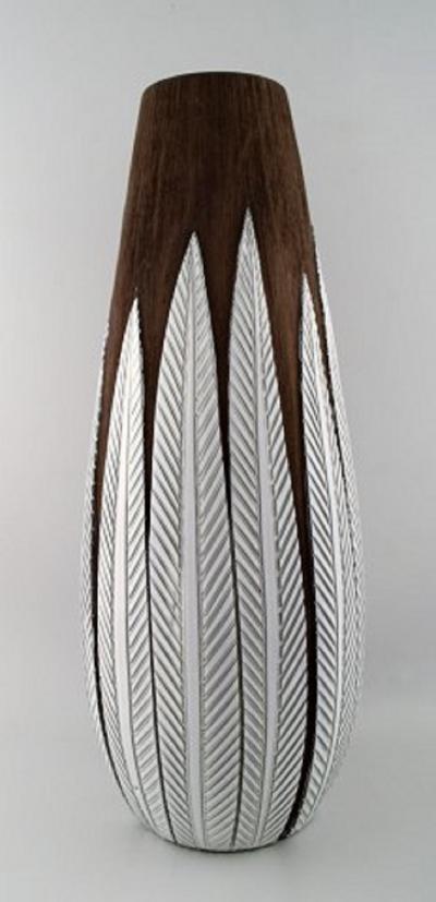 Upsala Ekeby Anna Lisa Thompson for Upsala Ekeby Paprika ceramic large floor vase