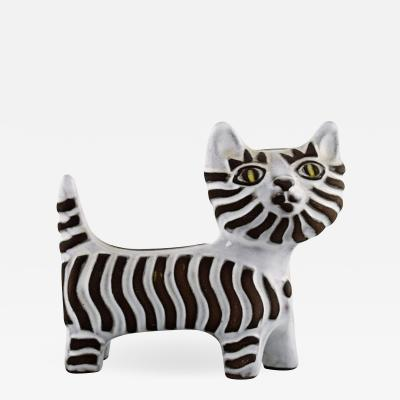 Upsala Ekeby Cat in glazed ceramics