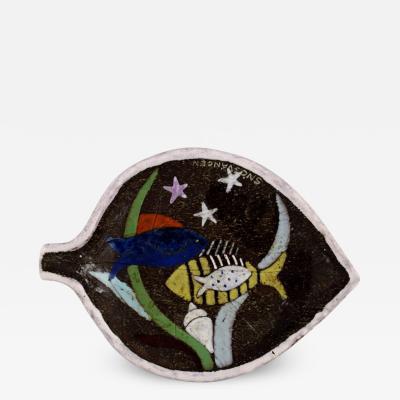 Upsala Ekeby Ceramic bowl decorated with fish