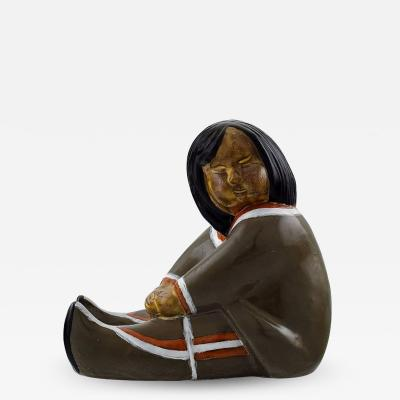 Upsala Ekeby Ceramic figure Greenlandic girl