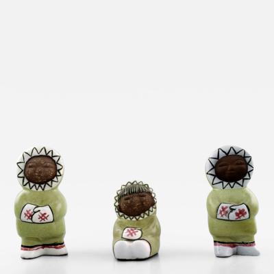 Upsala Ekeby Collection of Upsala Ekeby art pottery figurines Eskimo children