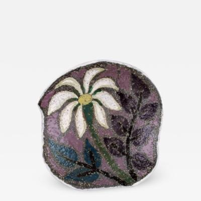Upsala Ekeby Ester dish in glazed stoneware with floral motif
