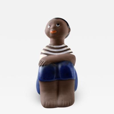 Upsala Ekeby Figure of boy number 7035M