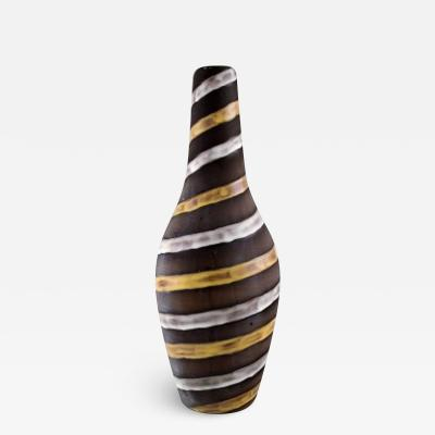 Upsala Ekeby Large vase in glazed ceramics Spiral design