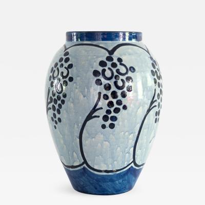 Upsala Ekeby Swedish Art Deco UPSALA EKEBY BLUE ceramic VASE