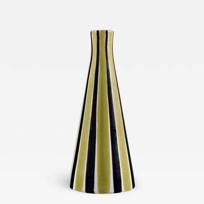 Upsala Ekeby Vase in glazed stoneware with striped decoration