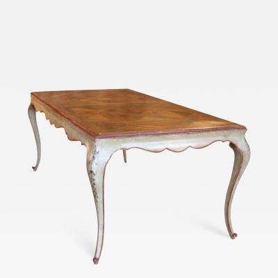 VERSAILLES PARQUET TOP DINING TABLE