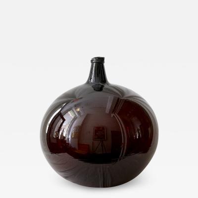 VERY LARGE 18TH CENTURY BLOWN GLASS DEMIJOHN