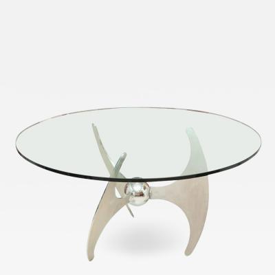 VINTAGE MID CENTURY ATOMIC PROPELLER CONVERTIBLE TABLE
