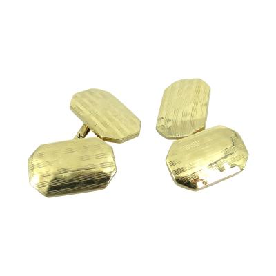 VINTAGE TIFFANY CO DOUBLE SIDED GOLD CUFFLINKS