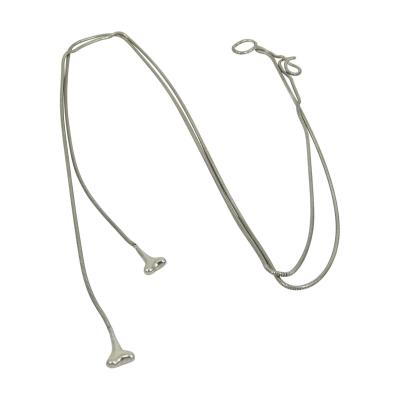 VINTAGE TIFFANY CO STERLING SILVER LANYARD LARIAT NECKLACE