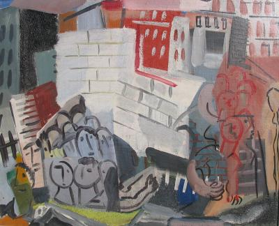 Vaclav Vytlacil City Scene with Faces