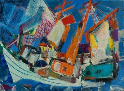 Vaclav Vytlacil Vineyard Fishing Boat