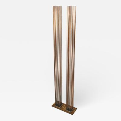 Val Bertoia Brass and Beryllium Copper Sonambinet Sounding Sculpture by Val Bertoia
