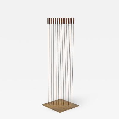 Val Bertoia Large Val Bertoia 15 Rod Curve of Sounding Cat Tails Sculpture 2016