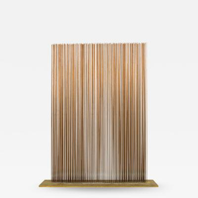 Val Bertoia Linear Four Row Copper and Brass Sonambient Sculpture
