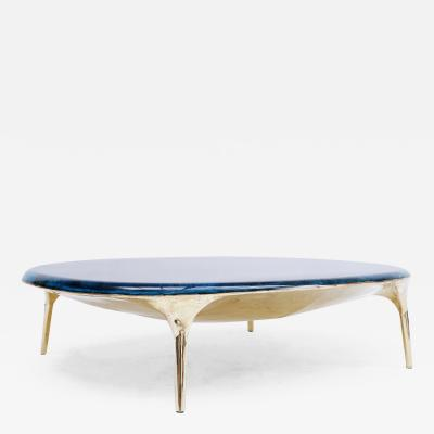 Valentin Loellmann Blue Brass Coffee Table