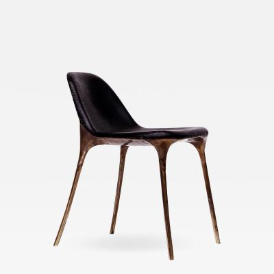 Valentin Loellmann Brass Black Chair