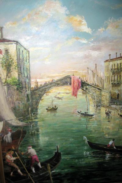 Valerio Zerbo Italian Oil Painting Il Ponte Delle Guglie Venice by Valerio Zerbo