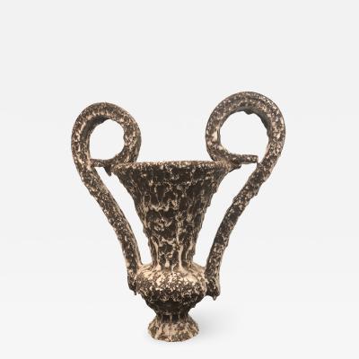 Vallauris Amphora Vase With Lava Glaze
