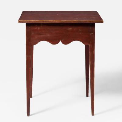 Valley of Virginia Scalloped Apron Tea Table