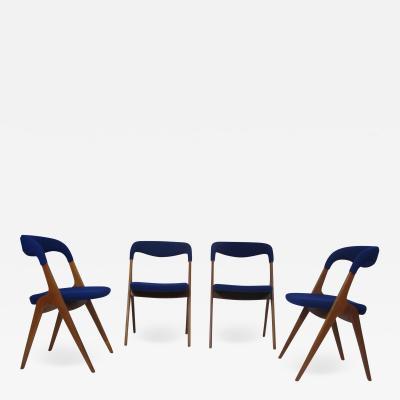 Vamo S nderborg Johannes Andersen Danish Teak Dining Chairs