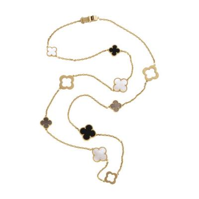 Van Cleef Arpels Chloe a Rare Limited Edition 18K Gold Alhambra Necklace