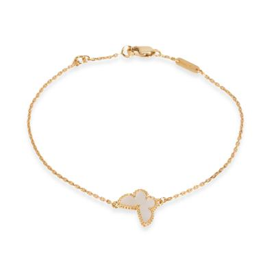 Van Cleef Arpels Sweet Alhambra Butterfly Bracelet in 18K Yellow Gold
