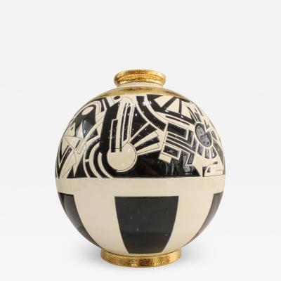 Vase Emaux de Longwy Motifs