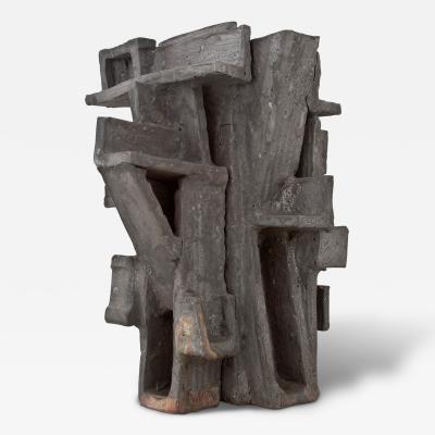 Vassil Ivanoff A Glazed Stoneware Abstract Sculpture