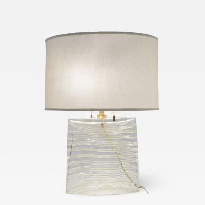Vela Venetian Glass Lamp by Donghia
