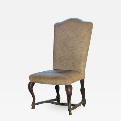 Venetian 18th Century large Rococo Walnut Side Chair