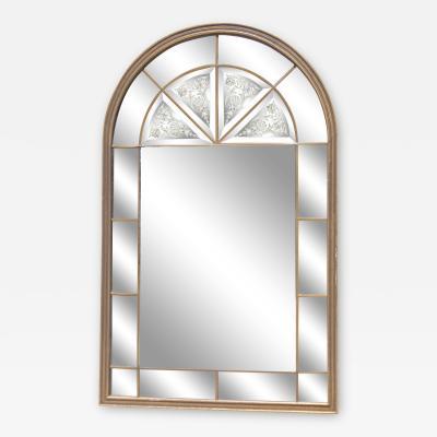 Venetian Arched Windowpane Mirror