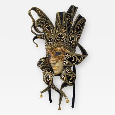 Venetian Laboratory Black Gold Venetian Mask