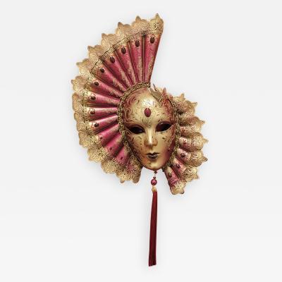 Venetian Laboratory Red Venetian Fan Mask