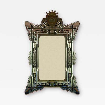 Venetian Mirror Hand Made by Barbini of Murano