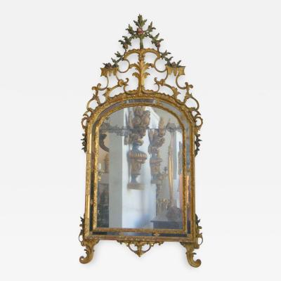 Venetian Painted and Giltwood Mirror