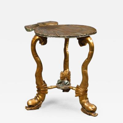 Venetian Silver gilt And Carved Wood Grotto Table