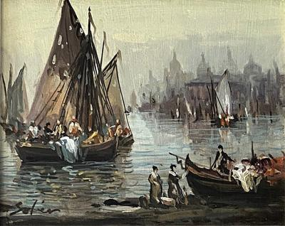 Venetians Painting by J R Stoler