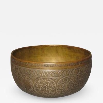 Veneto Saracenic brass bowl