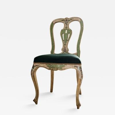 Ventetian hand painted chair 1940s
