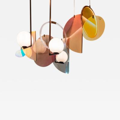 Vera Edith Dieckmann Monumental Glass Colorful Light Installation by Vera Dieckmann