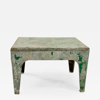 Verdigris Table from a Sussex Water Tank