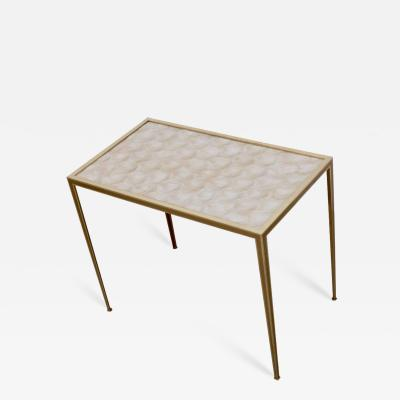 Vereinigte Werksta tten Brass and Mother of Pearl Side Table by Vereinigte Werkst tten M nchen