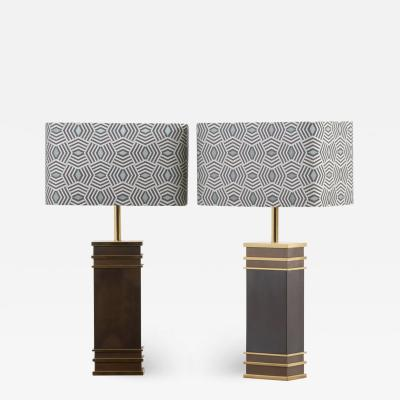 Vereinigte Werksta tten Pair of Monumental Mid Century Table Lamps by Vereinigte Werkst tten