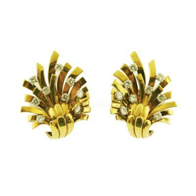Verge Diamond Gold Earrings