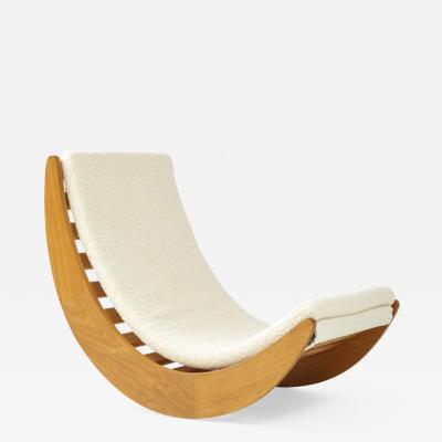 Verner Panton Danish Blond Wood Relaxer Rocking Chair by Vernor Panton For Rosenthal 1970s